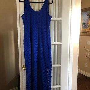 Apt. 9 Dresses - Beautiful long blue fitted dress.
